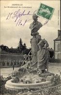 Cp Janville Eure Et Loir, Le Monument De Colardeau - France