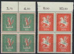 BRD 4x286/87 Oberrandblocks ** Postfrisch - [7] Repubblica Federale