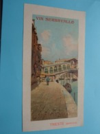 VIN SERRAVALLO Trieste (Barcola) J. Serravallo ( Format +/- 26 X 14 Cm. ) Blanco Rug > Zie Scan ! - Alcools