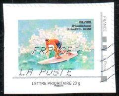 Timbre Personnalisé AG 2018 Philapostel à Lacanau - Oblitéré Sur Fragment - France