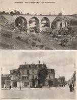 PERIGUEUX - 2 CP : Pont Du Chemin De Fer, Ligne Bonson-Sambadel - La Banque De France - Périgueux