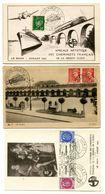 SARTHE De LE MANS Cachet Temporaire EXPOSITION PHILATELIQUE Sur 3 CP Du 6 Et 10 Juillet 1943 - 1921-1960: Periodo Moderno