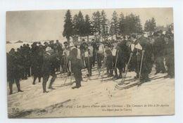 CPA 1911 CEVENNES ARDECHE ST AGREVE NEIGE HIVER GROS PLAN ANIME CONCOURS SKI TBE - Saint Agrève