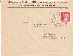 Brief: Clarens Wilz Mit  Bahnpost Schimpach-Kautenbach  Nach Luxemburg - 1940-1944 Occupation Allemande