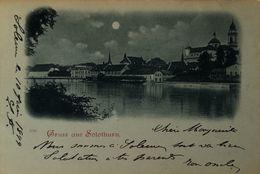 Suisse (SO) Gruss Aus Solothurn (Mondschein Karte) 1899! - SO Solothurn