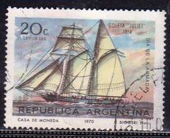 ARGENTINA 1970 SCHOONER JULIET SHIP NAVY DAY NAVE SCUOLA CENT. 20c USATO USED OBLITERE' - Usati