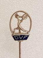 Epinglette Fédération Danoise D'haltérophilie - Pin Label Danish Weightlifting Federation - Gewichtheben - Gewichtheben