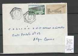 Algerie -Lettre - Cachet Hexagonal TACHETA ZOUGGARA SAS  - Marcophilie - Algerien (1924-1962)