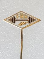 Epinglette Fédération Roumaine D'haltérophilie - Pin Label Romanian Weightlifting Federation - Gewichtheben - Gewichtheben