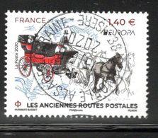 France 2020. Les Aciennes Routes Postales.cachet Rond Gomme D'origine - Frankreich