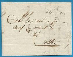 (T-031) Belgique - Précurseur - LAC Du 7/11/1805 De BRUGES (91 BRUGES En Noir) Vers AELST - 1794-1814 (Période Française)