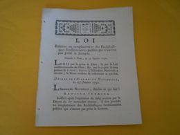 Louis XVI 1791: Remplacement Des Ecclésiastiques,fonctionnaires Publics Qui N'auront Pas Prêté Le Serment.Viret  Valence - Gesetze & Erlasse