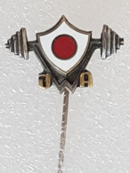 Epinglette Fédération Japonaise D'haltérophilie - Pin Label Japanese Weightlifting Federation - Gewichtheben - Gewichtheben