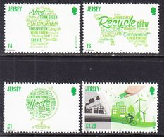 2016 Jersey Europa Think Green Cycling Environment Energy Complete Set Of 4 MNH @ Below Face Value - Jersey