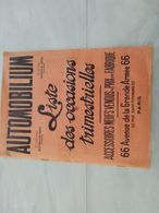 18867-M-  CATALOGUE 24X32CM 26 PAGES AUTOMOBILIU ACCESSOIRES AUTOMOBILE DONT PUB SUR LES BOUGIES OLEO - Advertising