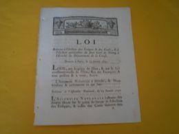 Louis XVI 1791: élection Des évêques Et Des Curés; Jean François Mourellon Curé De  Néony, Creuse; Néoux ? - Gesetze & Erlasse