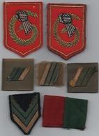 Lot 7 écussons Militaire - Ecussons Tissu