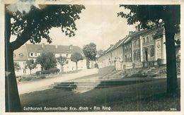 Deutsches Reich - Luftkurort Hummelstadt Grafschaft Glatz - Am  Ring -gel. Kleberest/ Stempel - Schlesien