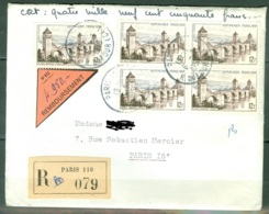 France  Lettre Recommandée Avec Contre Remboursement  Juillet 1956  Affranchie 60 Francs - France