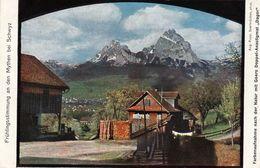 1628/ Fruhlingsstimmung An Den Mythen Bei Schwyz, Farbenaufnahme Nach Der Natur Mit Goerz Doppel-Anastigmat Dagor - SZ Schwyz