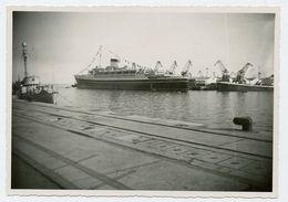 Superbe Bateau Paquebot Id Dos Andréa Doria 50s à Situer Port - Schiffe