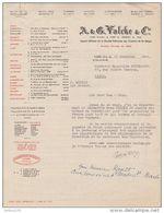 LETTRE 1954 A. & G. VALCKE & Cie - SOCIÉTÉ NATIONALE Des CHEMINS De FER BELGES - TRAIN BELGE BELGIQUE - Ferrovie