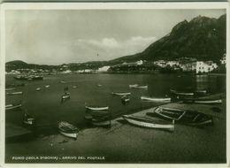 ISCHIA ( NAPOLI ) FORIO - ARRIVO DEL POSTALE - EDIZIONE DEL DEO - SPEDITA 1938 ( BG4263) - Napoli (Naples)