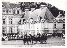 Quevillon Juin 1987 La Fête Du Cheval Au Château (2 Scans) - Cavalli