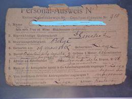 Militaria - Liège - Personal Ausweis - Directeur Société Liège - Né En 1869 à Liège - Certificat D' Identité - 2 Scans - Militaria