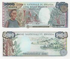 Rwanda 1988 - 5000 Francs - Pick 22 UNC - Rwanda