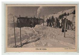 74 SAINT GERVAIS LES BAINS #13199 COL DE VOZA CHEMINS DE FER P. L.M. TRAMWAY CARTE PUBLICITAIRE - Saint-Gervais-les-Bains