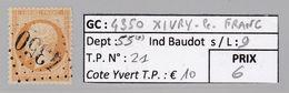 GC 4350 Xivry-le-Franc ( Dept 55 ) S / N° 21 - Marcophilie (Timbres Détachés)