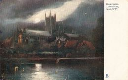 """""""Worcester Cathedral From S. W."""" Tuck Oilette Postcard # 1467 - Tuck, Raphael"""