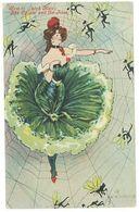 ? - Femme Art Nouveau Genre Kirchner - Danseuse Surréaliste - How To Catch Men : The Spider And The Flies (1386 ASO) - Autres Illustrateurs