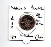 NEDERLAND 1/2 GULDEN 1929 ZILVER WILHELMINA - 1/2 Gulden
