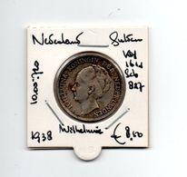 NEDERLAND  GULDEN 1938 ZILVER WILHELMINA - 1 Gulden