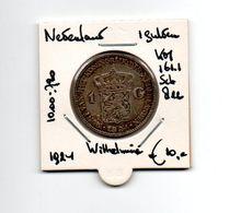 NEDERLAND  GULDEN 1924 ZILVER WILHELMINA - 1 Gulden