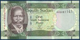 SOUTH SUDAN 1 POUND P-5 Dr. John Garang De Mabior - Africa Wildlife Giraffes 2011 UNC - Soudan Du Sud