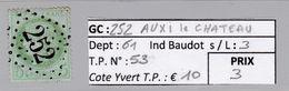 GC 252 Auxi-le-Chateau ( Dept 61 ) S / N° 53 - Marcophilie (Timbres Détachés)
