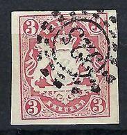 ALLEMAGNE Etats Allemands, Bavière:  Le Y&T 10 Obl., Rouge - Bayern