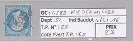 GC 4589 Niederwiller ( Dept 52 ) S / N° 22 - Marcophilie (Timbres Détachés)