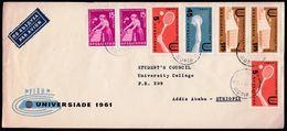 Bulgaria Sofia 1961 / University Games, FISU Universiade / Tennis Athletics Sport Palace / Sent To Ethiopia - Tennis