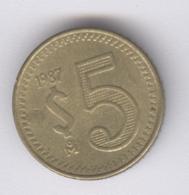 MEXICO 1987: 5 Pesos, KM 502 - Mexico