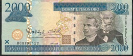 DOMINICAN REPUBLIC P181a 2000 PESOS ORO 2006  #BC FIRST DATE   XF-AU ! - República Dominicana