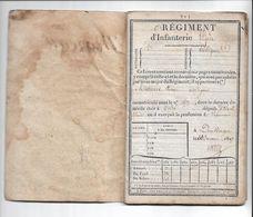 Livret Militaire 1827 : VITRE  DUNKERQUE  1er Rgt D'Inf Légère  Voltigeur, Complet De Ses 32 Pages  Voir Scans Tb état - Documents Historiques