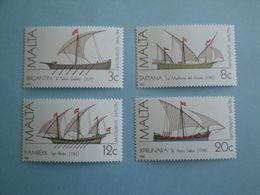Bateaux  1982 Malte  Yv 657/60  **  MNH Michel 669/2  Scott 619/22  SG 701/4 Ships  Voiliers - Malta