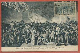 FRANCE CARTE MAXIMUM REVOLUTION JEU DE PAUME DE 1939 - Cartoline Maximum