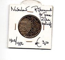 NEDERLAND PENNING RIJKSMUNT 90 JAAR RIJKSBEDRIJF 1902/1992 - [ 3] 1815-… : Royaume Des Pays-Bas