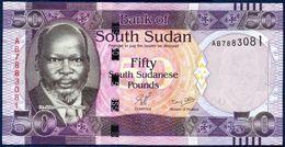 SOUTH SUDAN 50 POUND P-9 Dr. John Garang De Mabior - Africa Wildlife Elephant 2011 UNC - Zuid-Soedan