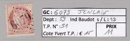GC 6079 Jenlain  ( Dept 9 ) S / N° 51 - Marcophilie (Timbres Détachés)